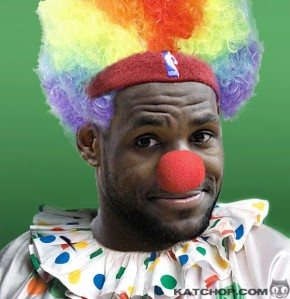 clown lebron