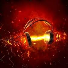 Headphones on fire