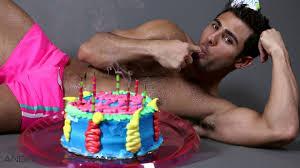 naked birthday boy
