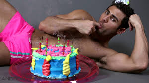 naked birthday boy